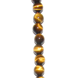 Natural Stone Beads: Tiger Eye 10mm Beads