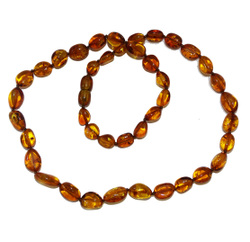 Necklaces: Amber Necklace (Adult) Cognac