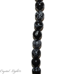 Natural Stone Beads: Snowflake Obsidian 10mm Beads
