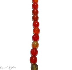 Natural Stone Beads: Mixed Orange Agate 10mm Round Beads