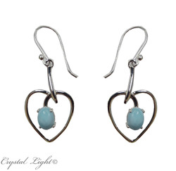 Earrings: Larimar Heart Earrings S/S