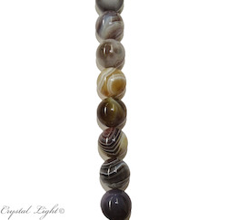 Round Beads: Botswana Agate 8mm Round Beads