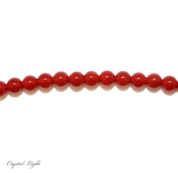 4,6 & 7mm Bead: Red Agate 6mm Beads