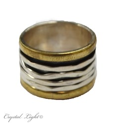 Sterling Silver Rings: Spinner Ring S/S - Size 8