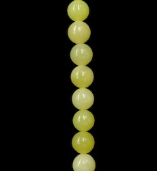 Round Beads: Lemon Serpentine 10mm Round Bead