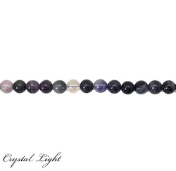 Round Beads: Purple Fluorite 8mm Beads