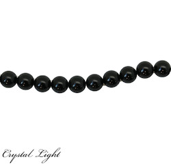 Round Beads: Black Obsidian 8mm Beads
