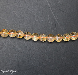 8mm Bead: Citrine 8mm Round Bead
