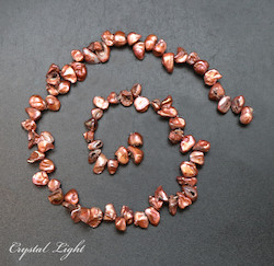 Shell and Pearl Beads: Copper Keshi Pearl Beads