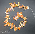 Orange Keshi Pearl Beads