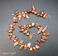 Red Gold Keshi Pearl Beads