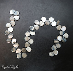 Shell and Pearl Beads: Iridescent Shell Teardrop Beads