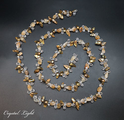 Shell and Pearl Beads: Keshi Pearl and Citrine Tumble Beads