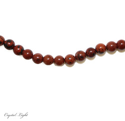 Round Beads: Mahogany Obsidian 6mm Beads