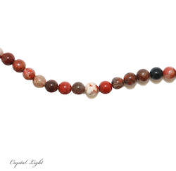 4,6 & 7mm Bead: Poppy Jasper 6mm Beads