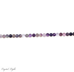 Round Beads: Purple Fluorite 6-7mm Beads