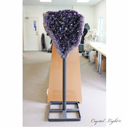 Amethyst Caves / Geodes: Large Amethyst on Stand - A Grade